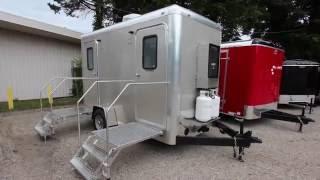 Shower Trailer | 2 Stall Combo Portable Restrooms / Shower Trailer Comfort Series