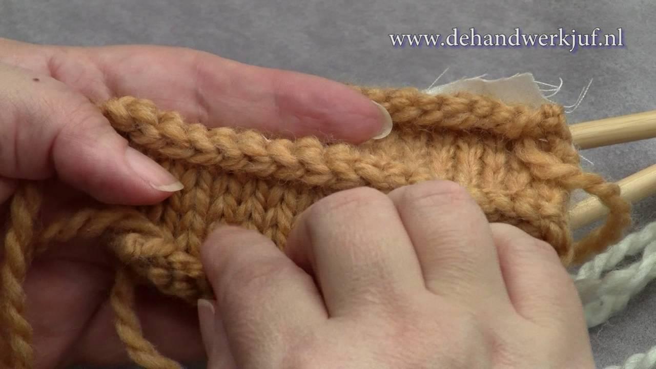 Breien Afwerking Panden Aan Elkaar Breien Knitting Two Parts To