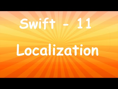 SWIFT TUTORIAL GERMAN 11 - Localization thumbnail
