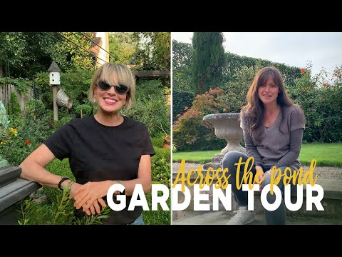 GARDEN TOUR!  English Walled Garden Across The Pond!