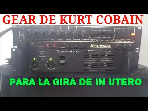 KURT COBAIN'S GEAR PARA EL TOUR DE IN UTERO NIRVANA MESA BOOGIE-CREST 4801-MARSHALL CABINET-PEDALES