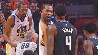 Kevin Durant CAN'T BELIEVE Soft Ref Gave A Technical Foul For Exchanging Words With JaMychal Green!