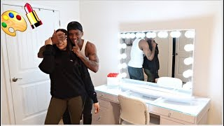 SUPRISING MY GIRLFRIEND WITH HER OWN MAKEUP ROOM!! *SHE HAD NO IDEA*