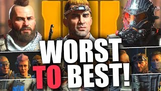 Black Ops 4 Specialists Ranked WORST to BEST! (Top 10 & Honest Review)