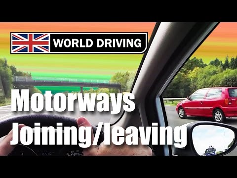 Joining and leaving a motorway driving lesson - Driving in the UK - Motorway tips