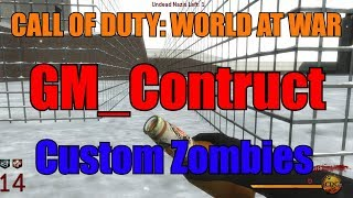 Call of Duty: World at War CUSTOM ZOMBIES! - GM_CONSTRUCT MAP GAMEPLAY