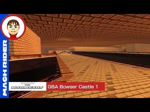 Mario Kart TrackMania- GBA Bowser Castle 1