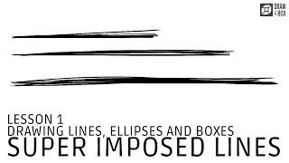 Drawabox Lesson 1, Exercise 1: Super Imposed Lines