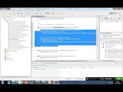 How to setup eclipse IDE for creating sample IDD user exits