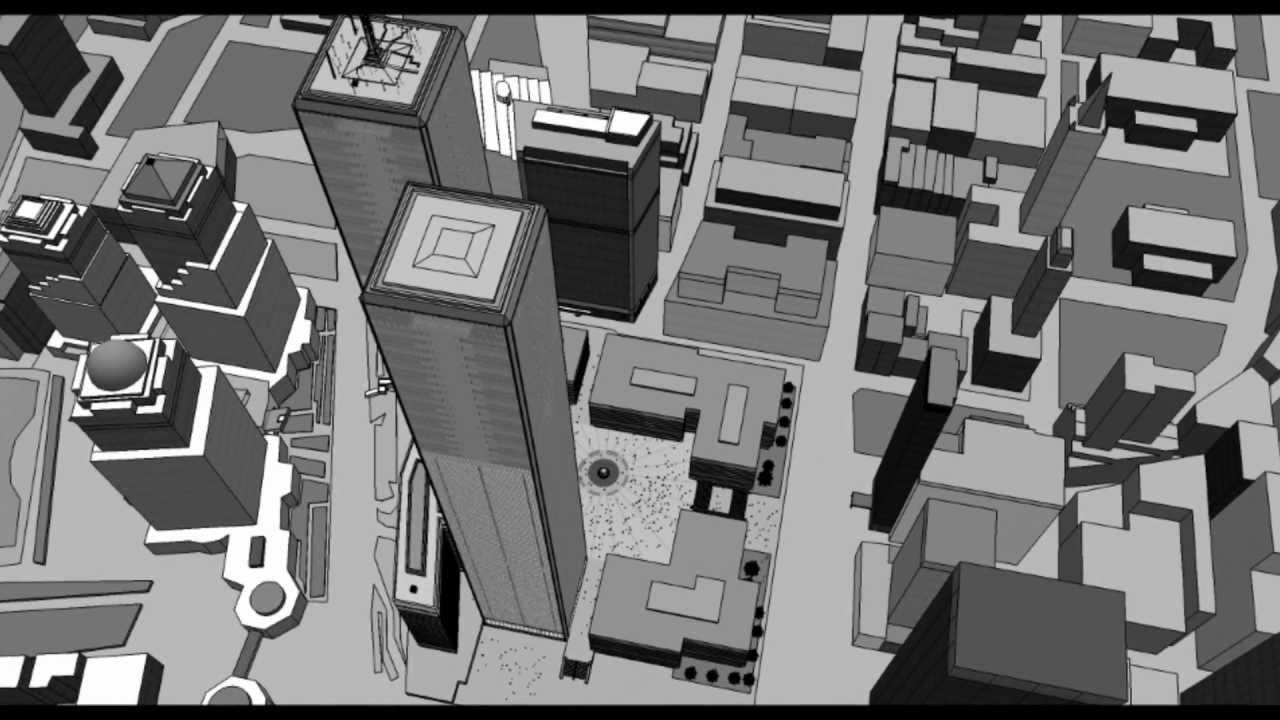 The World Trade Center 3d Google Sketchup Youtube