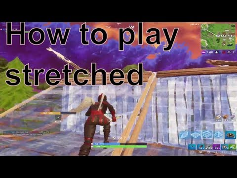 How to play stretched in Fortnite ( Custom Resolution ...