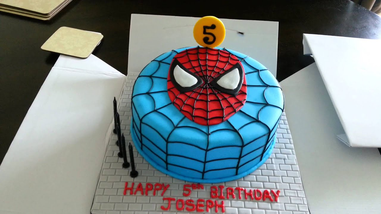 Easy To Make Spiderman Cake