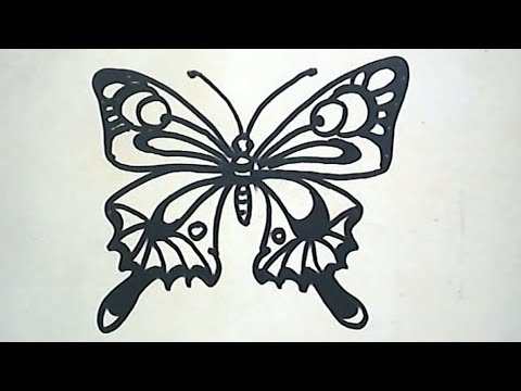 Cara Menggambar Kupu Kupu How To Draw A Butterfly Youtube