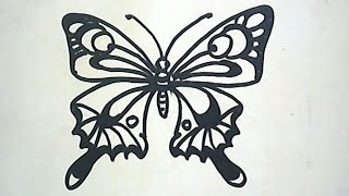 How to Draw a Butterfly (Cara menggambar kupu kupu)
