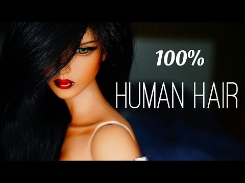How to make human hair wig for BJD Dolls Step by Step