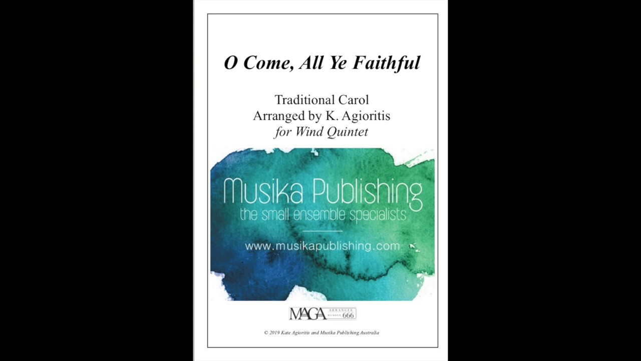 Download O Come, All Ye Faithful - Traditional Arrangement for Wind Quintet