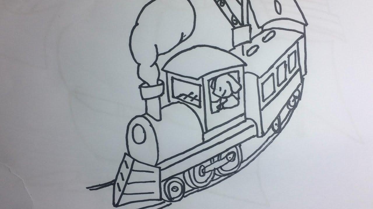 Dibuja Y Colorea Tren Del Ferrocarril Dibujos Para Niños