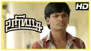 Uriyadi Tamil Movie Scenes | Mime Gopi tries to convince Vijay Kumar | Henna | Suruli