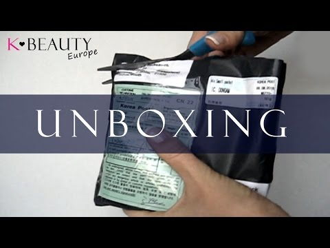 [UNBOXING] Open package from Korea. Unboxing Korean skin care & makeup | K-beauty Europe
