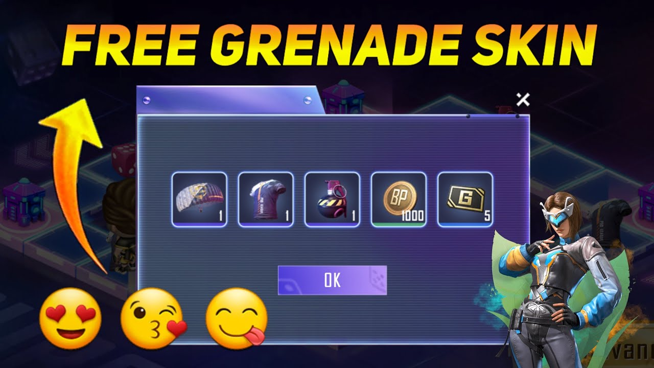 FREE GRENADE SKIN IN PUBG MOBILE NEW PMPL EVENT - SAMSUNG,A3,A5,A6,A7,J2,J5,J7,S5,S6,S7,59,A10,A20