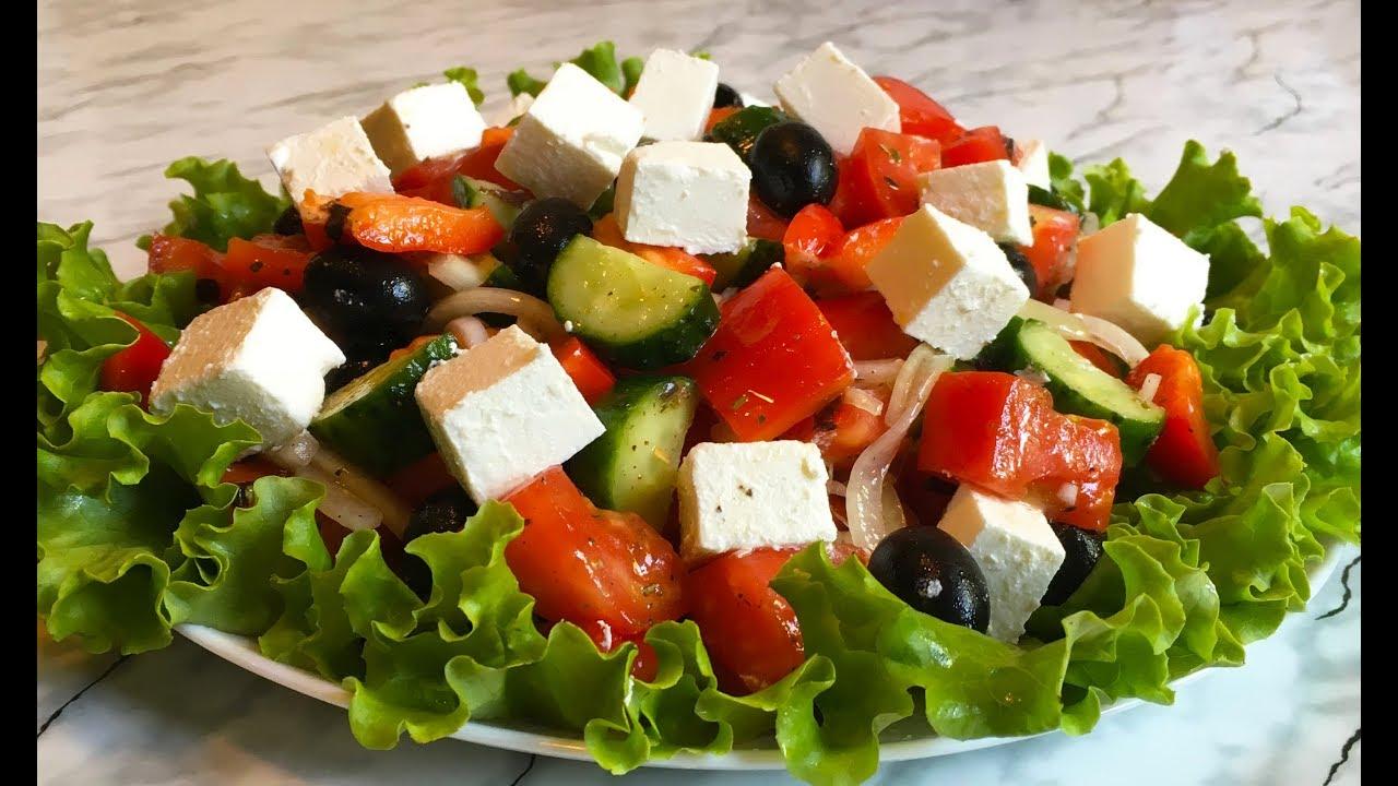 Рецепт салата греческий на английском языке