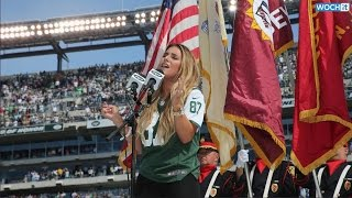 Jessie James Decker Wows While Singing National Anthem At Jets Game: Watch And Listen Now!