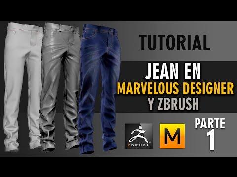 Tutorial Jean en Marvelous Designer y Zbrush ::: Parte 1