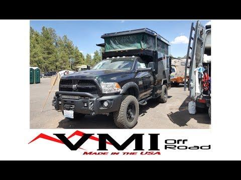 Amazing Dodge Cummins Diesel truck camper built by VMI-Offroad :Overland Expo 2017