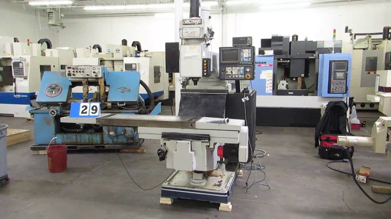Vectrax GS-30-N 3-Axis CNC Knee Mill with Fanuc O-M Control At  Machinesused com