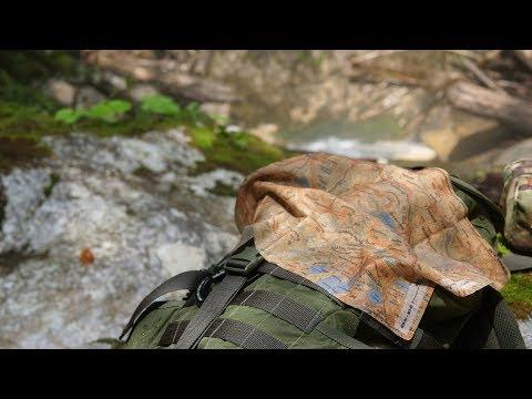Map-Bandana - Topokarte auf Stoff (+ Wandern Wettersteingebirge)