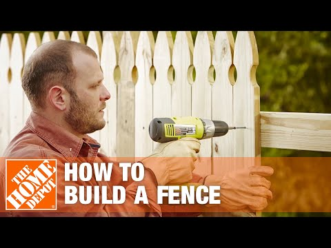 How To Build A Fence | The Home Depot