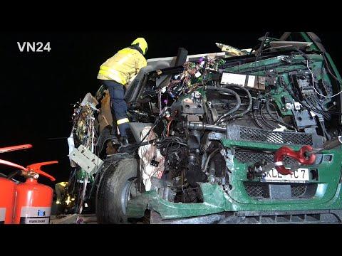 17.12.2019 - VN24 - LKW Unfall Auf A2 Bei Castrop - Bergung Eines Tankzuges