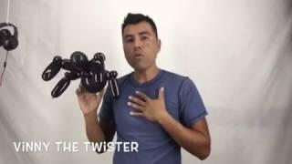 Globoflexia  como hacer balloon Halloween spider