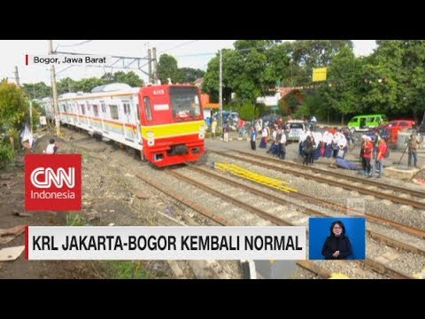 KRL Jakarta-Bogor Sudah Kembali Normal