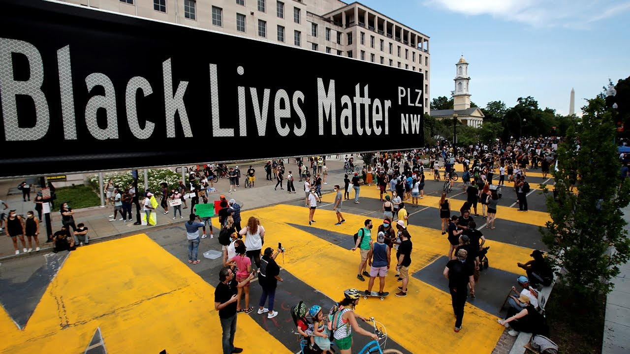 DC Mayor sends message to Trump with giant 'Black Lives Matter' sign outside White House