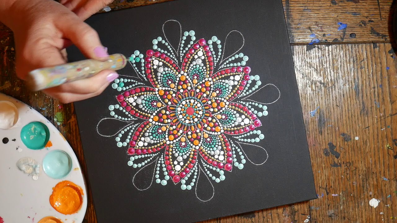 How to paint dot mandalas with Kristin Uhrig #37- Tracing paper