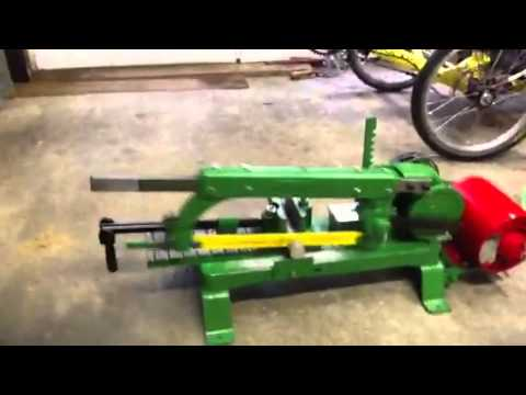 Keller Jefferson model 601 power hacksaw - YouTube
