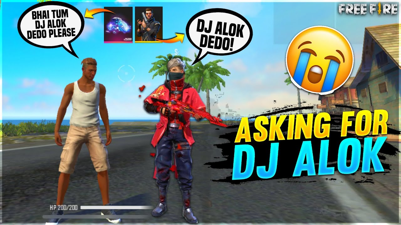 I Ask For Dj Alok From Random Player😢 | Crying moment | I Gave Him Dj Alok - Garena Free Fire