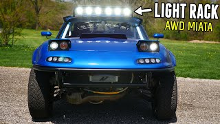 homepage tile video photo for Fabricating a TROPHY TRUCK Style LIGHT RACK for the AWD MIATA!