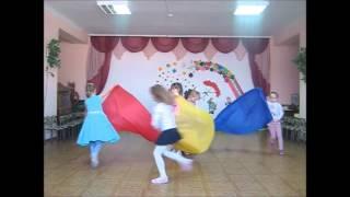 Танец с полотнами на 23 февраля  Детский сад № 22 с  Новоселицкое