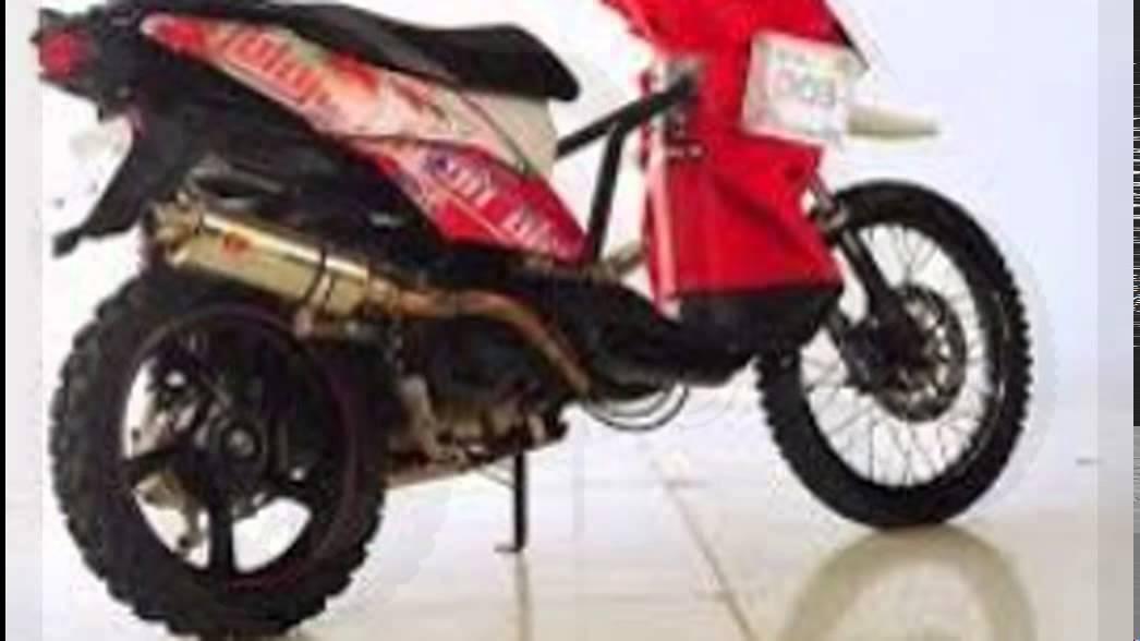 Modifikasi Motor Trail Motorplus Trail Yamaha X Ride Matik Offroad