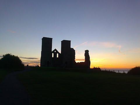 Reculver - Panoramas of ruins and coast.