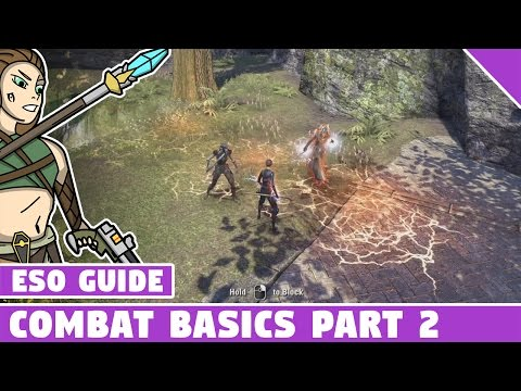 ESO Combat Basics for Beginners Part 2 - Elder Scrolls Online, AoE's DoT's buffs and more!