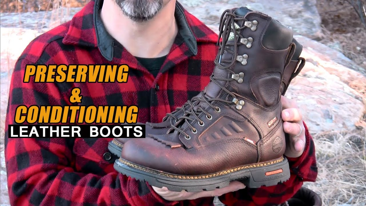 preserving conditioning leather boots