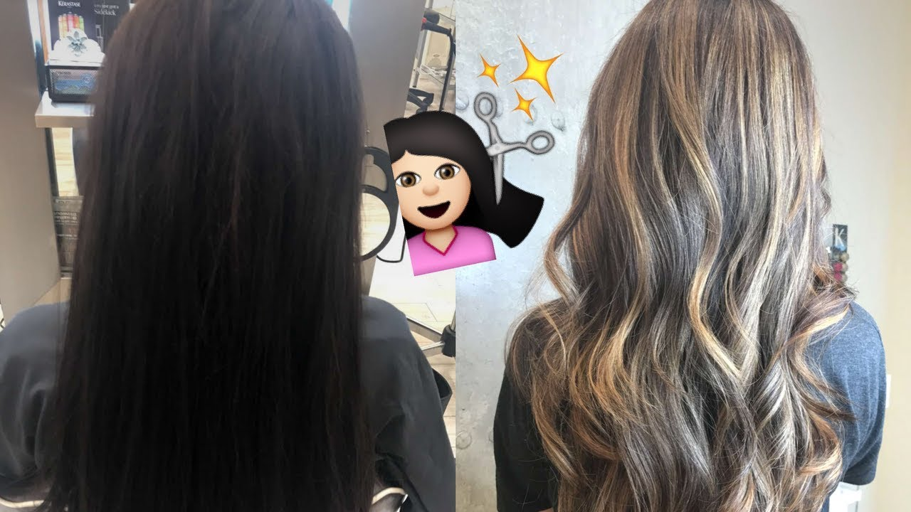 From Brunette To Blonde My Balayage Hair Transformation Youtube