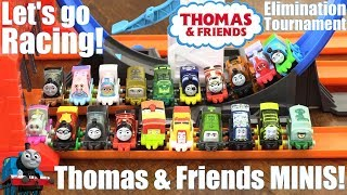 Hot Wheels Racing, Thomas and Friends MINIS Elimination Tournament Racing Game. Toy Racing Race #40