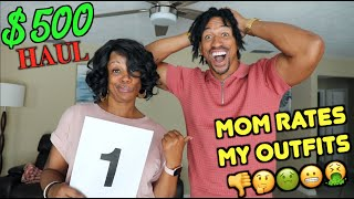 My Savage Mom Rates My Outfits! $500 Boohoo Man Haul & Try On