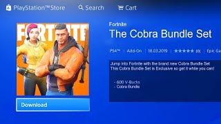 "The NEW ""COBRA CREW"" BUNDLE in Fortnite! PS4 EU EXCLUSIVE COBRA SKIN BUNDLE LEAKED! (Cobra Skin-Set)"