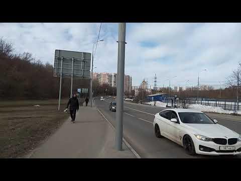 Москва 46 - круговой дорожный кольцевой перекресток трикотажный проезд и ул Василия петушкова зимой
