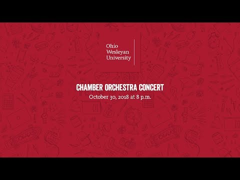October 30, 2018: Chamber Orchestra Concert